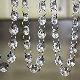 chandelier crystals clear - Crystal Clear Acrylic Bead Garland Chandelier Hanging wedding Decoration 33 FT