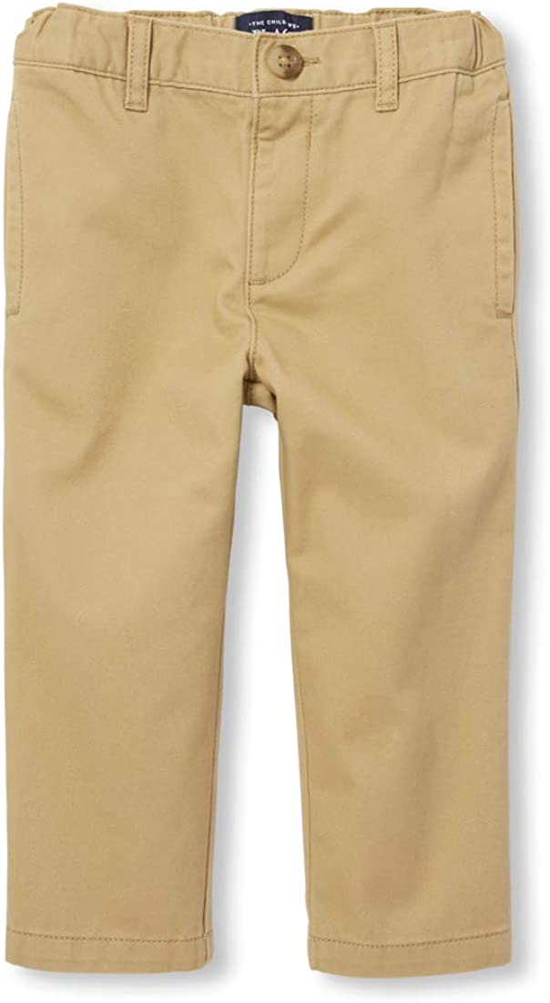 The Children's Place Boys' Baby and Toddler Uniform Chino Pants: Clothing