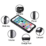 iPhone 8/7 Waterproof Case, Moliwa Wireless Charging Supported Full Protective Waterproof Shockproof Dirtproof Snowproof Case for iPhone 8/7 with Kickstand (Black)