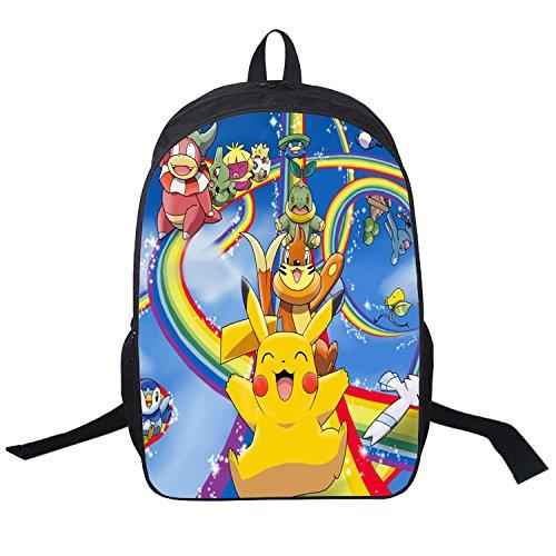 Memorecool Pokemon Series Unisex School Backpack Japanese Anime Pikachu Carto.. 32
