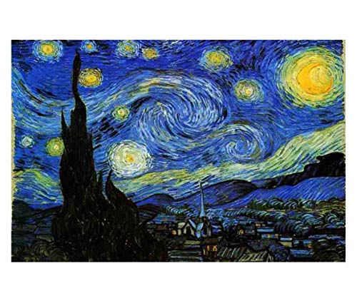 Jigsaw Puzzles 1000 Pieces Starry Night Vincent Van Gogh Artwork Art for Teen Adult Grown Up Puzzles Large Size Toy Educational Games Gift Jigsaw Puzzle Jigsaw Puzzle 1000 PCS -