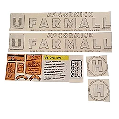 Aftermarket Replacement International Harvester Farmall Model H Complete Decal Set