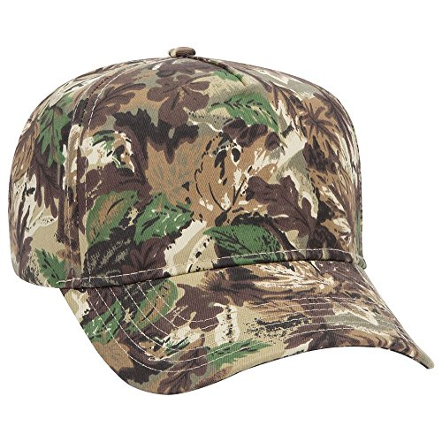 (OTTO Camouflage Cotton Blend Twill 5 Panel Low Crown Structured Baseball Cap - Lt.Lod/BRN/Kly)