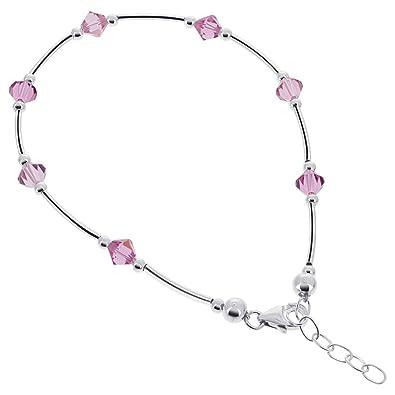 Amazon Com Gem Avenue Sterling Silver Swarovski Elements Pink
