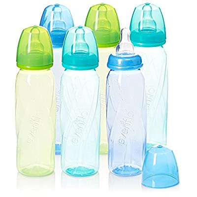 Evenflo Feeding Premium Proflo Vented Plus Polypropylene Baby, Newborn and Infant Bottles - Helps Reduce Colic