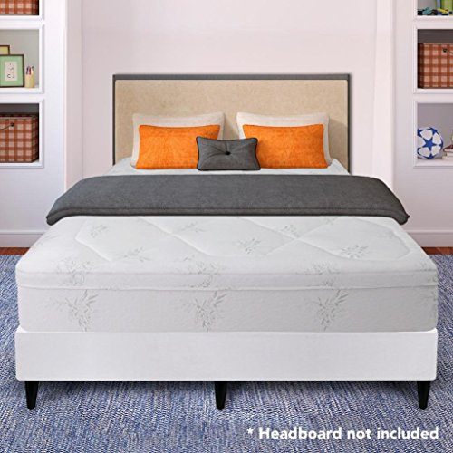 Best Price Mattress 12'' Grand Memory Foam Mattress and New Innovative Steel Platform Bed Set, California King by Best Price Mattress