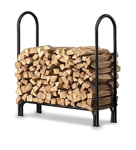 Plow & Hearth 13433 Heavy Duty Steel Outdoor Firewood Rack