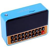 Rádio Relógio FM c/ Entr USB/Alarme/Mp3 e Auxiliar Azul WS1513