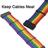 WeiMeet 48 Pieces Cable Comb Kit for 3 mm Cable