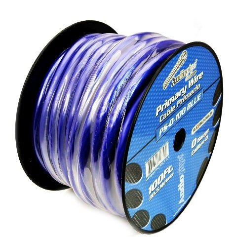 100 FT 0 GA BLUE POWER GROUND AUDIOPIPE COPPER MIX WIRE CABLE AMP INSTALL by Audiopipe (Image #3)