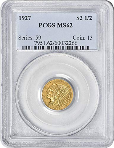 1927 Gold Indian $2.50 MS62 PCGS
