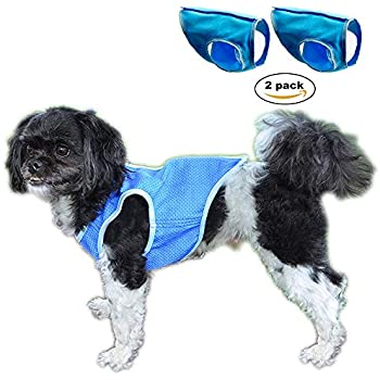 Dog Cooling Vest,Swamp Cooler Jacket for pet,Pet Cooling Coat for Small and Medium Dogs.(L,2pack)