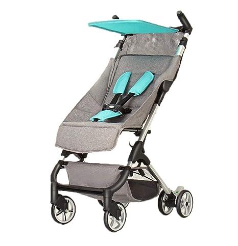 carrito de bebé- Ligero plegable Puede sentarse y acostarse Puede estar en el avión Cochecito