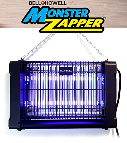 Bell + Howell MONSTER ZAPPER 2,800-Volt, 20-watts - Attracts and Kills Houseflies, Mosquitoes, Gnats - Electric Indoor Pest Control As Seen On TV (Original)