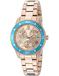 Invicta Womens Angel Quartz Stainless Steel Watch, Color:Rose Gold-Toned (Model: 21769)
