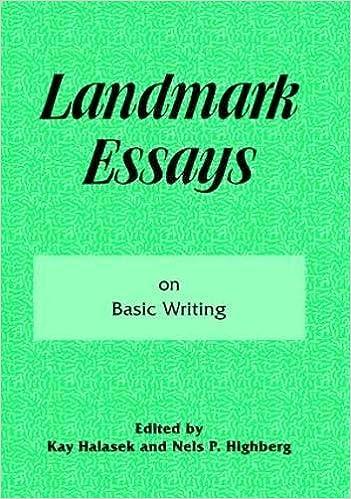 Landmark Essays on Basic Writing: Volume 18