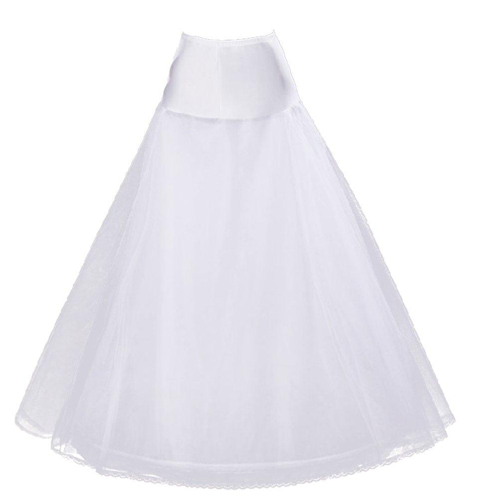 Drasawee Women A-Line Bridal Petticoat Crinoline Wedding Dress Slips Underskirt JLQ0799