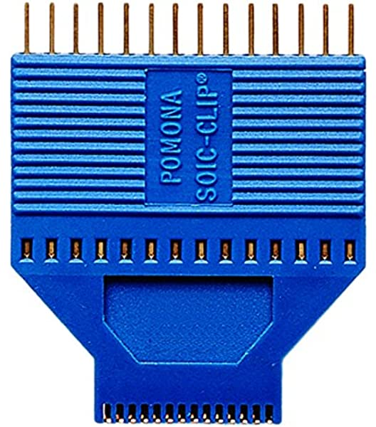Pack of 2 8 Contacts 5250 1.27 mm Gold Plated Contacts-5250 SOIC IC Test Clip SOJ