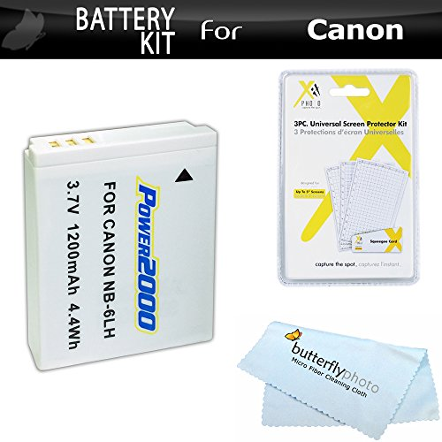 Battery Kit For Canon PowerShot SX540 HS, SX530 HS, SX520 HS, SX510 HS, SX710 HS, SX610 HS, SX700, SX600 HS, SX500 IS, SX170 IS, S120 Digital Camera Includes Replacement NB-6L Battery +More