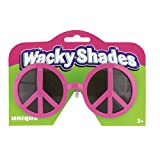 Pink Peace Sign Novelty Glasses