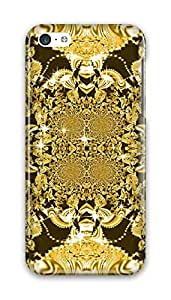 CaseandHome Royal Glamour Gold Design PC Material Hard Case For iphone 5C