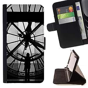 For Huawei Ascend P8 (Not for P8 Lite) Case , Arquitectura Big Ben Clok interior- la tarjeta de Crédito Slots PU Funda de cuero Monedero caso cubierta de piel