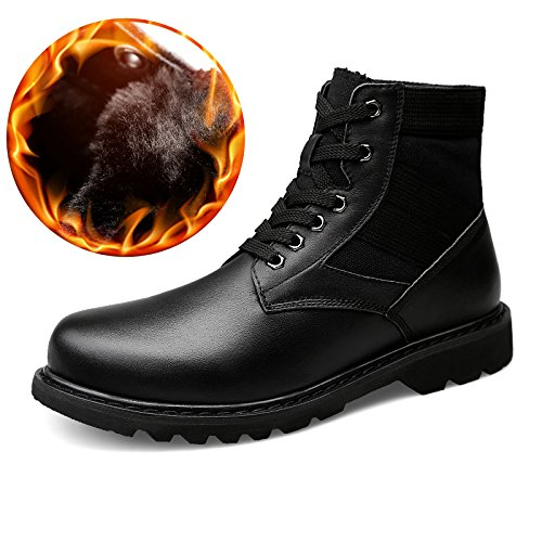 Shuo lan hu wai Herren Stiefeletten Casua High Top Schnürung Gummi Sohle Martin Stiefel (Warm Velvet Optional),Grille Schuhe (Farbe   Schwarz, Größe   39 EU)  | Vorzugspreis