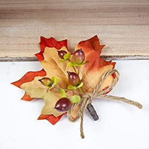 4 pcs Berries Boutonnieres with Fall Leaves - Wedding Flowers by BalsaCircle 6