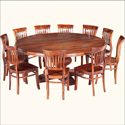 Aprodz Sheesham Wood Honolulu 10 Seater Dining Table Set For Home Dining Furniture Brown Finish Amazon In Home Kitchen
