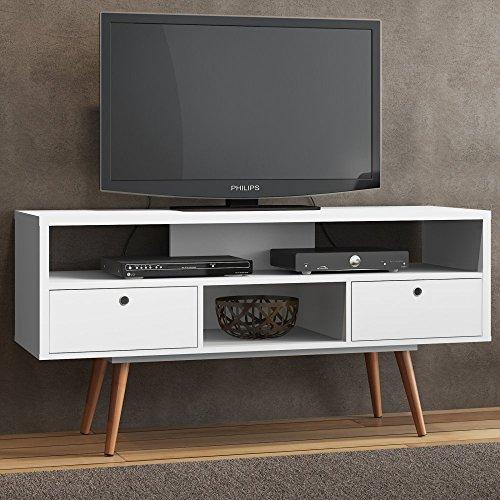 Ideaz International 23103Ws Jessie Tv Stand  White Satin