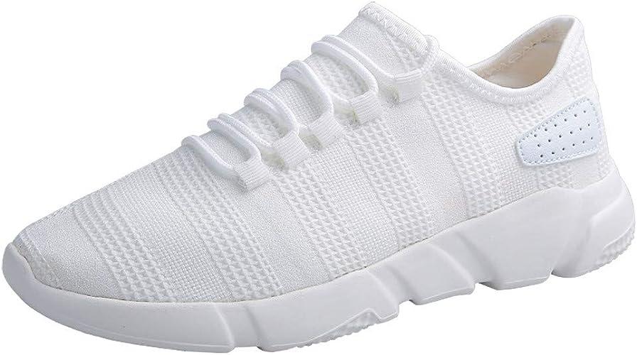 TOPKEAL Baskets Mode,Chaussures de Sport Homme Chaussures en Maille Chaussure DéContractéE à Lacets Sneakers Homme Chaussures de Course Espadrilles