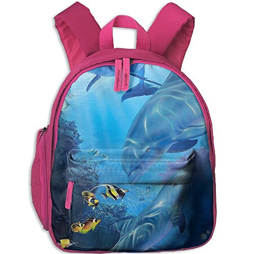 Kid's Dolphin Backpack 3D Printing Schoolbag