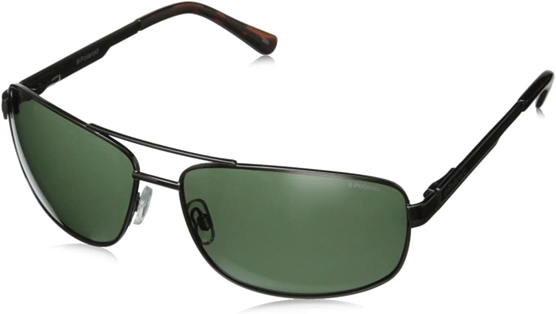 Polaroid - Occhiali da Sole P4314, Uomo Lenti: Green Polarized, Montatura: Black (Kih)