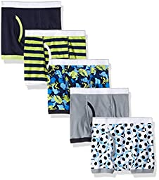 The Children\'s Place Boys\' Big Boys\' Boxer Briefs (Pack of 5), Lily Pad, 8