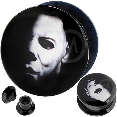 7/8 inch gauges Organic Stone Ear Flesh Tunnel Plugs Nightmare Christmas Stretcher Taper MoDTanOiz 22mm -