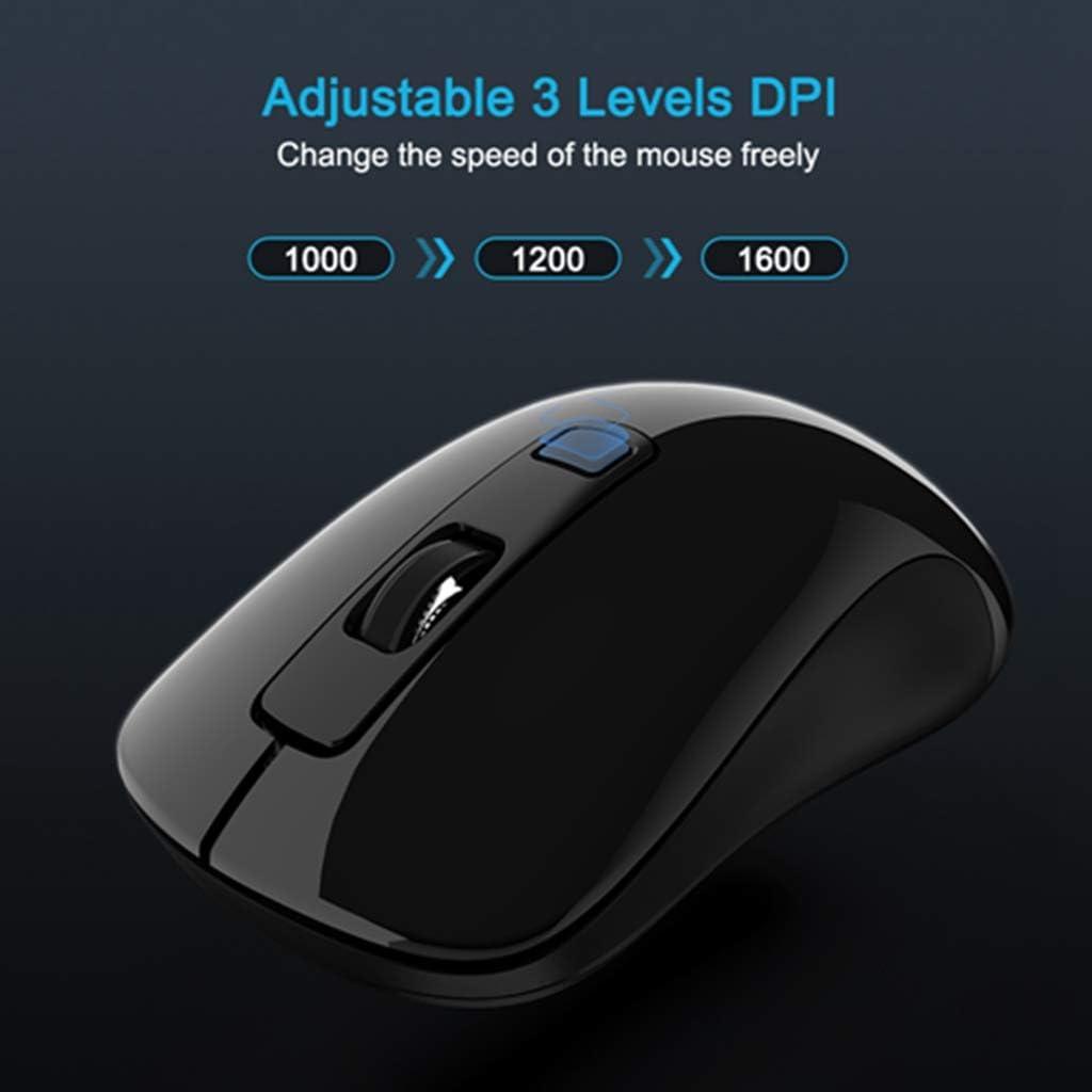 BINGFEI Portable Wireless Mouse 2.4GHz USB 3.0 Computer Ergonomic Mouse Mini Mice for Laptop Desktop Notebook PC Optical Mause