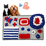 Towerin Pet Snuffle Mat Slow Dog Feeding Mat Pet Sniffing Training Pad for Stress Release Pet Puzzle Snuffle Blanket for Small Medium Large Cats Durable and Machine Washable (20.5'' x 30.5'')