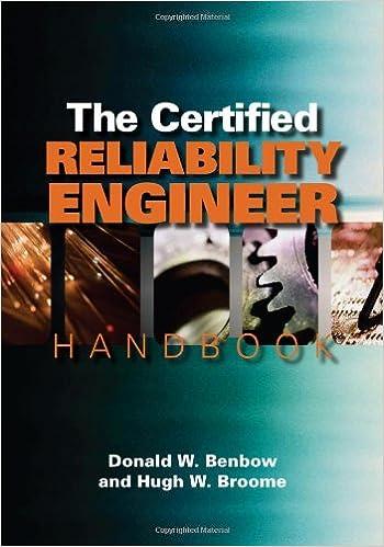 the certified reliability engineer handbook harcdr edition certified reliability engineer