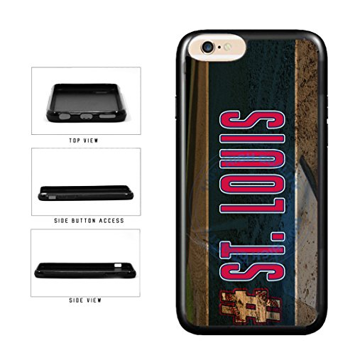 BleuReign(TM) Hashtag St Louis #St Louis Baseball Team TPU RUBBER SILICONE Phone Case Back Cover For Apple iPhone 8 Plus and iPhone 7 Plus