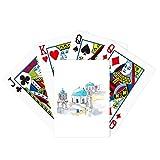 beatChong Imerovigli Village in Santorini Greece Poker Playing Card Tabletop Board Game Gift