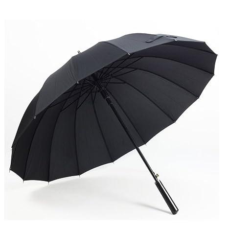 Paraguas plegables Mango largo 16 hueso paraguas automático transparente rojo Plegable Paraguas de viaje (Color