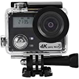 Acouto Wifi Action Camera, HD 4k 2 Inch 2.4G Dual Screens Sport Camera 30m underwater Camcorder with Waterproof Case Accessory Kit