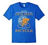Never Underestimate An Old Man With A Bicycle T-Shirt Large Royal Blue