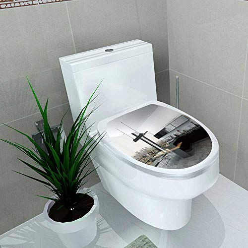 Decal Wall Art Decor Stylish kitchenette in a Open Plan liv Room Interior Black Bathroom Creative Toilet Cover Stickers W6 x (Full Feature Kitchenettes)