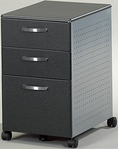 - Mayline 992 3 Drawer Pedestal File with Wheels Anthracite