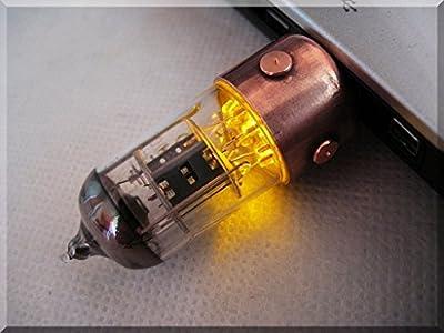 Handmade 8/16/32/64/128GB ORANGE Pentode Radio Tube USB Flash Drive. Steampunk/Industrial Style from SlavaTech