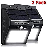 Gear Mongrel Outdoor Solar Powered Motion Sensor Lights – 2 Pack Super Bright 20 LED Wireless Waterproof Exterior Wall Security Lighting for Yard, Patio, Driveway, Deck, Garden, Steps, Fence, Pathway