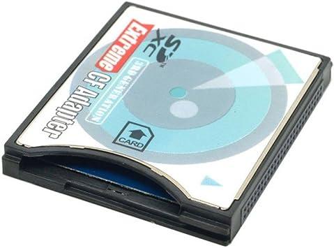 Sd A Cf Tipo Ii Adaptador Tarjeta Convertidor Nuevo Uk admite Eye-Fi, Sdhc, Sd Xc, etc.