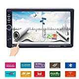 """Car Stereo - Double Din Car Radio Multimedia GPS Navigaiton 7"""" Touch Screen Car Stereo with Bluetooth, MP5 Player/TF/USB/FM +Remote Control by UNITOPSCI"""
