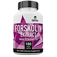 EBYSU Forskolin Extract - 500mg Max Strength - 180 Capsules Weight Loss & Appetite Suppressant Supplement